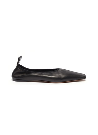Main View - Click To Enlarge - PROENZA SCHOULER - Square toe leather ballerina flats