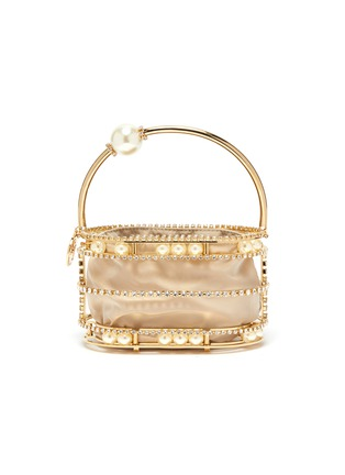 Main View - Click To Enlarge - ROSANTICA - 'Abaco' strass embellished moving pearls top handle clutch