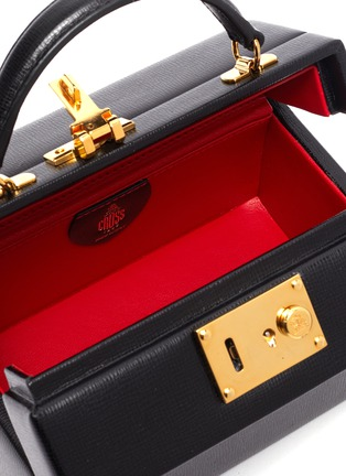 Detail View - Click To Enlarge - MARK CROSS - 'Grace' Mini box leather trunk