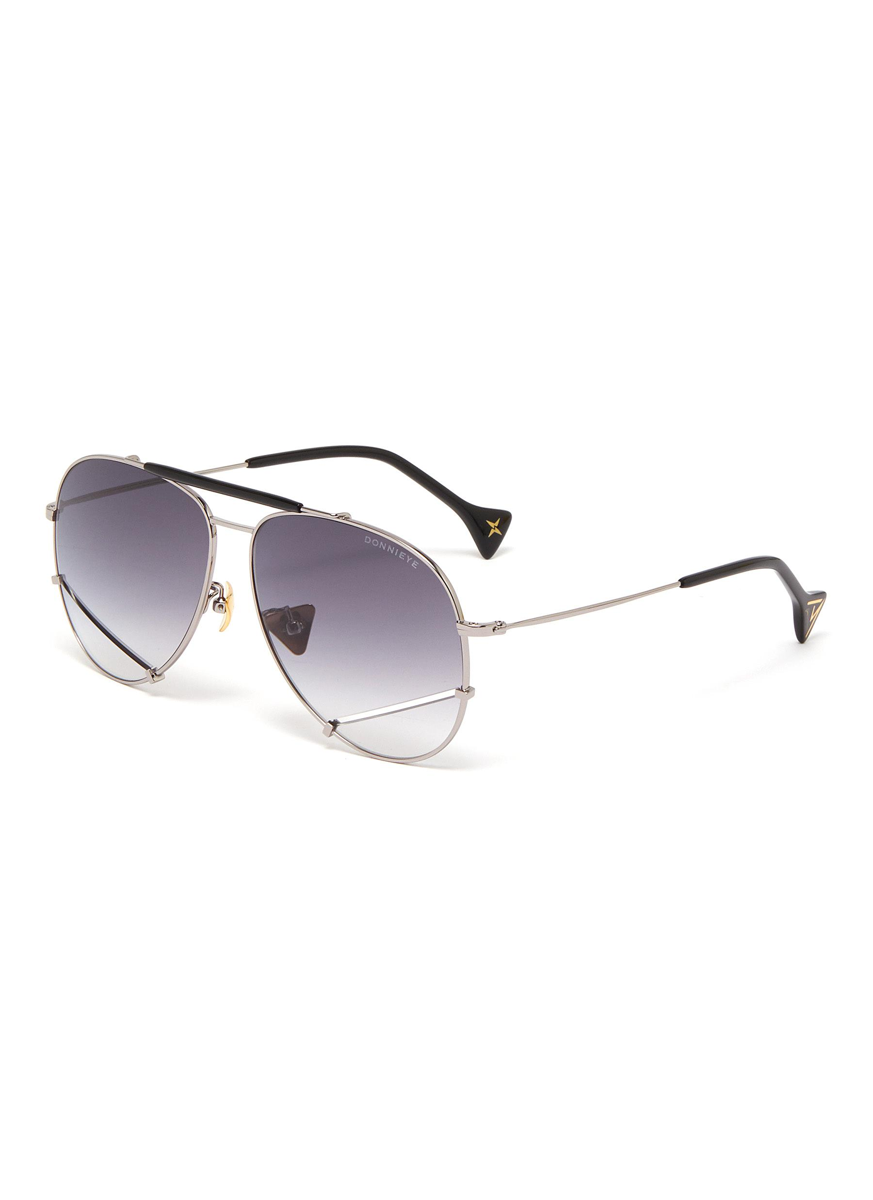 'Optimist' metal frame aviator sunglasses