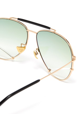 Detail View - Click To Enlarge - DONNIEYE - 'Optimist' metal frame aviator sunglasses