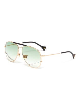 Main View - Click To Enlarge - DONNIEYE - 'Optimist' metal frame aviator sunglasses