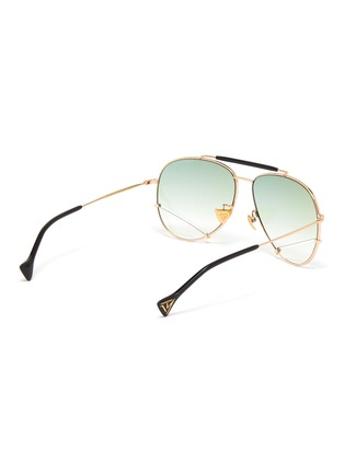 Figure View - Click To Enlarge - DONNIEYE - 'Optimist' metal frame aviator sunglasses