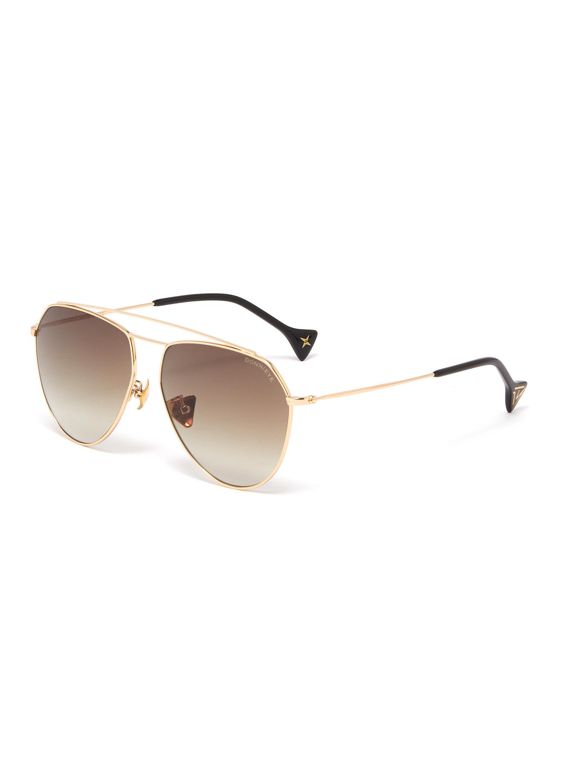 'Divine' metal frame aviator sunglasses