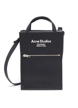 Main View - Click To Enlarge - ACNE STUDIOS - Contrast Panel Logo Print Small Tote