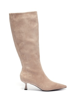 Main View - Click To Enlarge - PEDDER RED - 'Felicity' suede tall boots