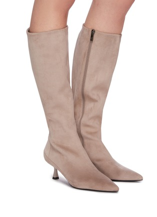 Figure View - Click To Enlarge - PEDDER RED - 'Felicity' suede tall boots