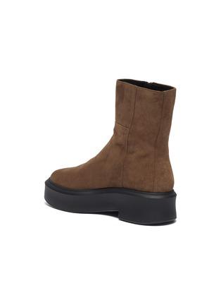 - PEDDER RED - 'Harlow' zip-up suede combat boots
