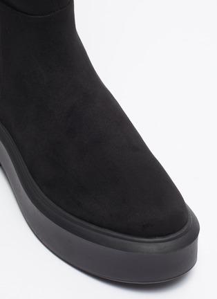 Detail View - Click To Enlarge - PEDDER RED - 'Hero' suede platform knee boots
