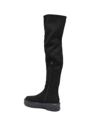 - PEDDER RED - 'Hero' suede platform knee boots