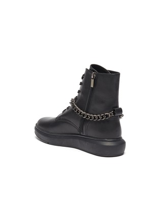 - PEDDER RED - 'Kaia' chain anklet leather combat boots