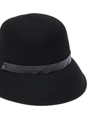 Detail View - Click To Enlarge - MOSSANT - Buckled wool bucket hat
