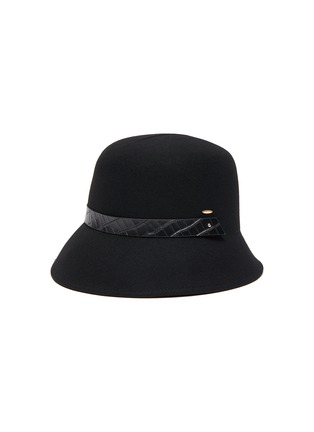 Main View - Click To Enlarge - MOSSANT - Buckled wool bucket hat
