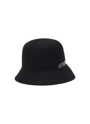 Figure View - Click To Enlarge - MOSSANT - Buckled wool bucket hat