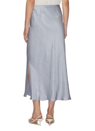 Back View - Click To Enlarge - VINCE - Side slit midi slip skirt
