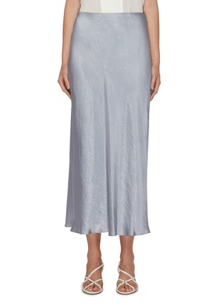 Main View - Click To Enlarge - VINCE - Side slit midi slip skirt