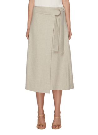 Main View - Click To Enlarge - VINCE - High waist belted skirt