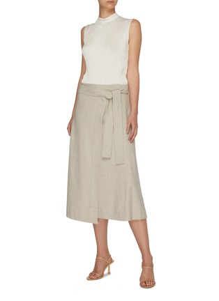 Figure View - Click To Enlarge - VINCE - High waist belted skirt
