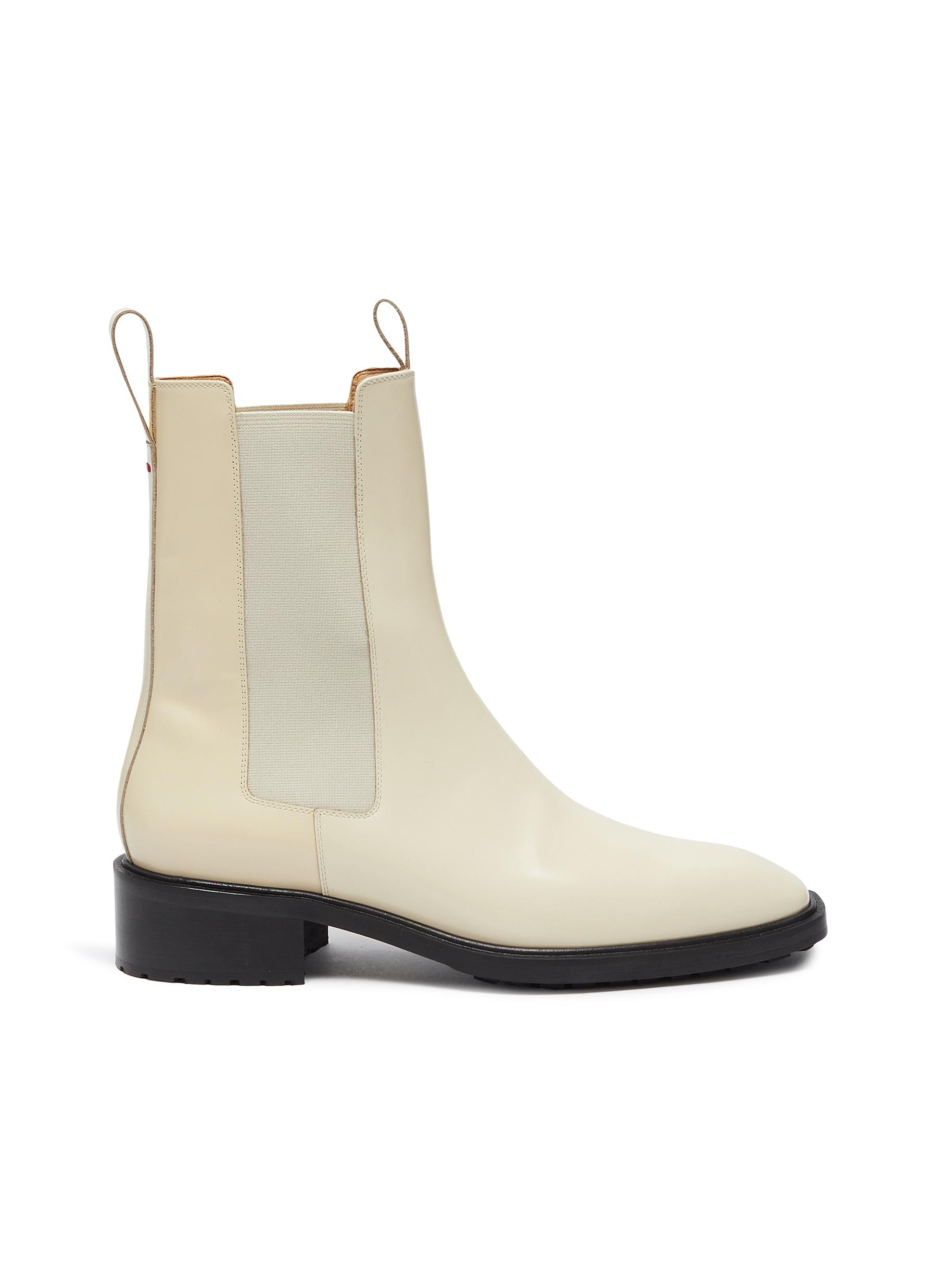Aeyde 'SIMONE' PATENT LEATHER CHELSEA BOOTS