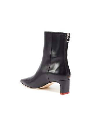- AEYDE - 'IVY' THIN BLOCK HEEL LEATHER ANKLE BOOTS