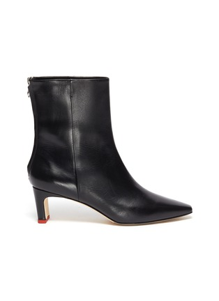Main View - Click To Enlarge - AEYDE - 'IVY' THIN BLOCK HEEL LEATHER ANKLE BOOTS