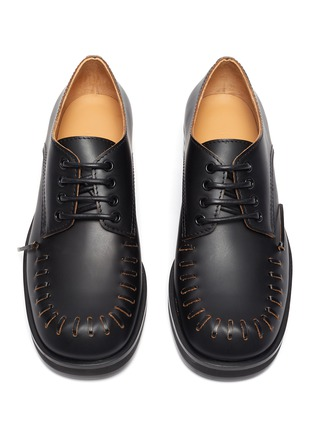 Detail View - Click To Enlarge - JW ANDERSON - Topstitch Round Toe Derby Shoes