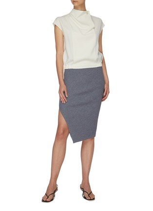 Figure View - Click To Enlarge - THEORY - Twisted ribbed knit midi skirt