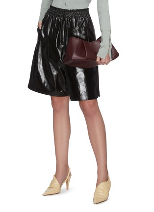 Front View - Click To Enlarge - KHAITE - 'Jeanne' small gathered leather crossbody bag