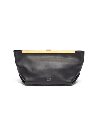 Main View - Click To Enlarge - KHAITE - 'Aimee' gathered leather clutch