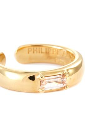 Detail View - Click To Enlarge - PHILIPPE AUDIBERT - 'Betty' zirconium open ring