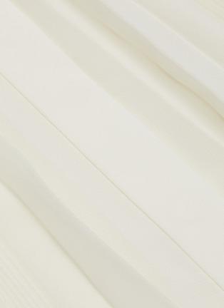 - THEORY - Waistband placket pleated midi skirt