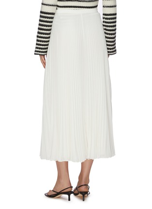 Back View - Click To Enlarge - THEORY - Waistband placket pleated midi skirt