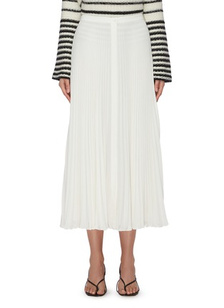 Main View - Click To Enlarge - THEORY - Waistband placket pleated midi skirt