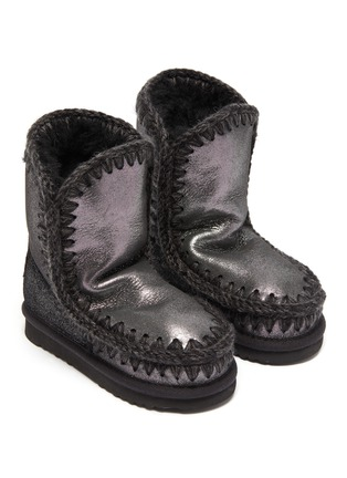 Figure View - Click To Enlarge - MOU - 'Eskimo Tall' microglitter leather toddler winter boots
