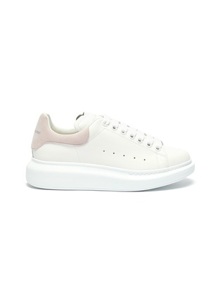 Main View - Click To Enlarge - ALEXANDER MCQUEEN - 'Oversized sneaker' with suede tab