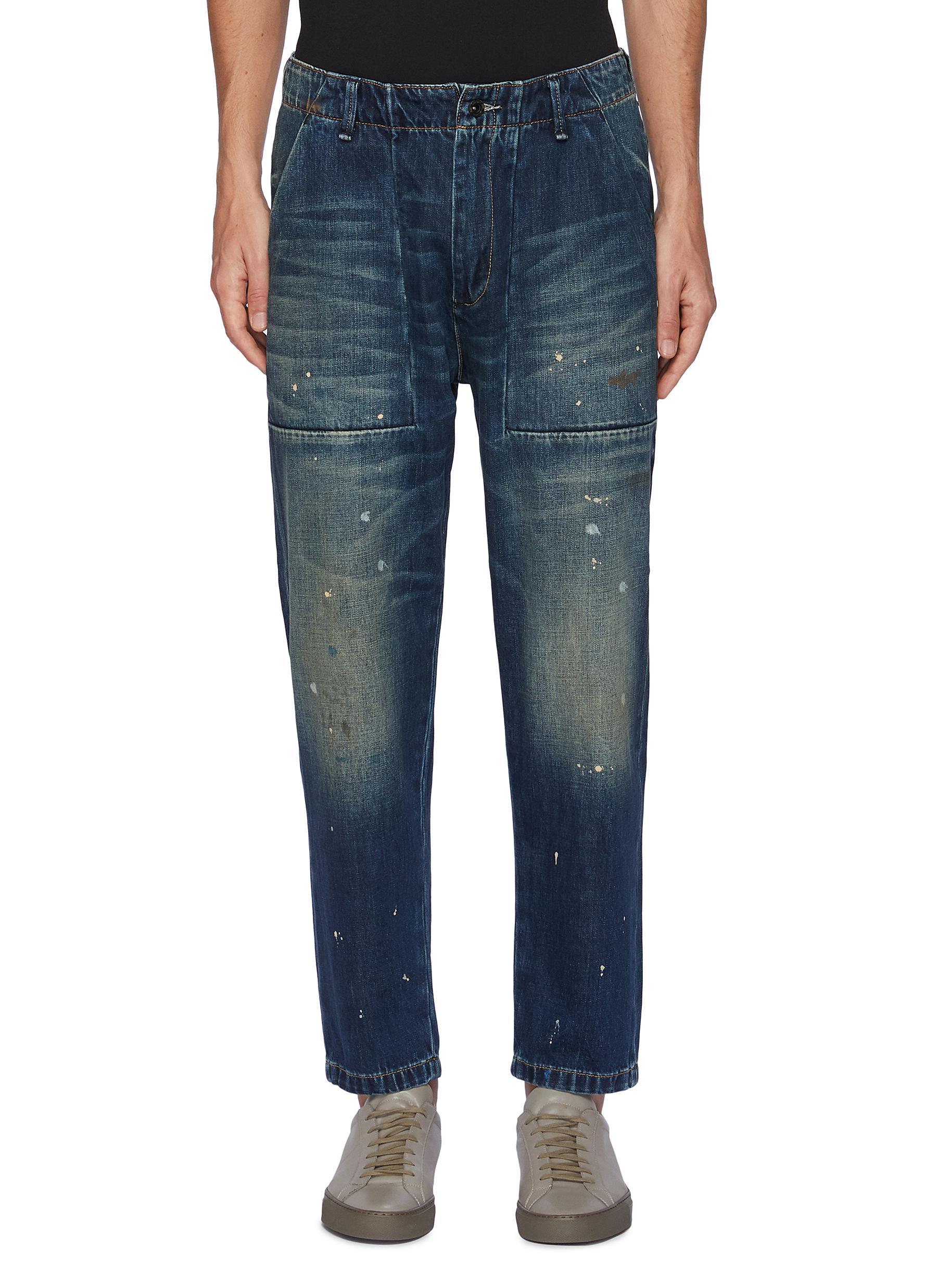 Splash Paint Patch Pocket Jeans - DENHAM - Modalova