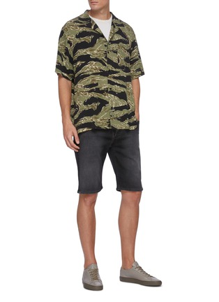 Figure View - Click To Enlarge - DENHAM - Camouflage Print Short Sleeve Shirt