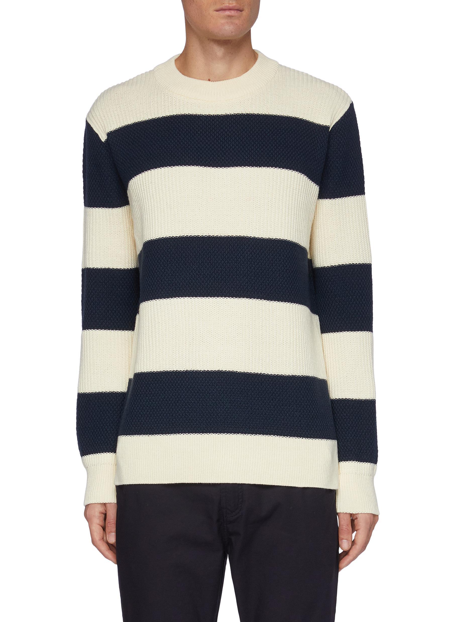 Coldlane' Block Stripe Cotton Blend Sweater - DENHAM - Modalova