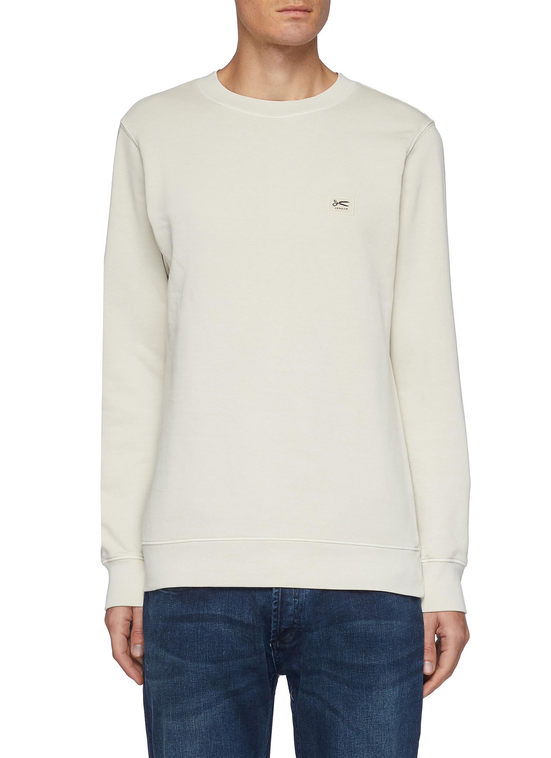 Logo Appliqué Cotton Sweatshirt - DENHAM - Modalova