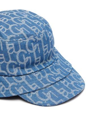 Detail View - Click To Enlarge - LAURENCE & CHICO - Monogram print brim denim bucket cap