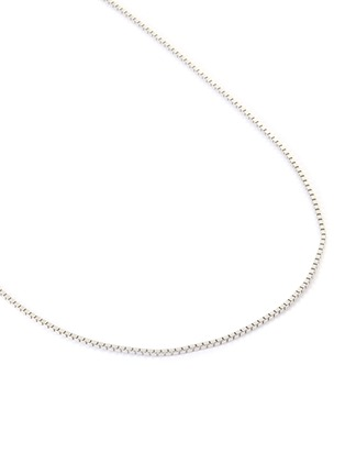 Detail View - Click To Enlarge - TOM WOOD - Square sterling silver chain necklace