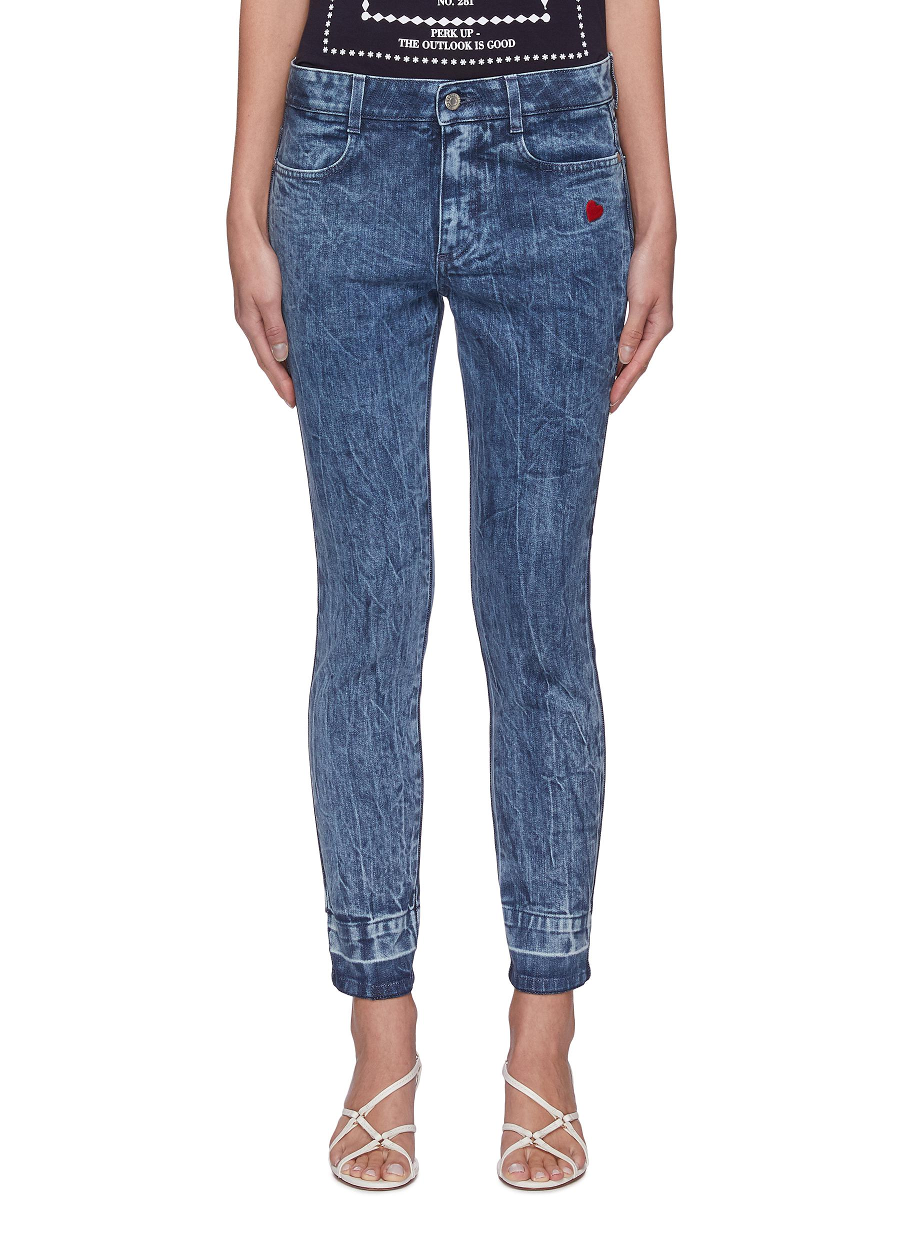 Stella Mccartney Cottons CRINKLE EFFECT SKINNY JEANS