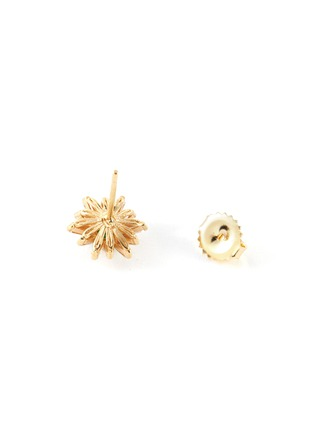 Detail View - Click To Enlarge - SUZANNE KALAN - Diamond emerald 18k gold earrings