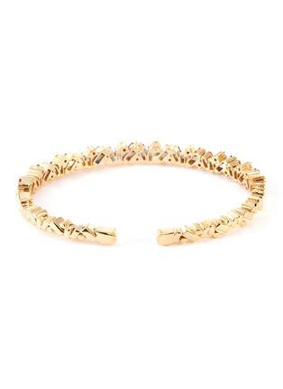 Figure View - Click To Enlarge - SUZANNE KALAN - 'Rainbow' diamond sapphire 18k gold bangle
