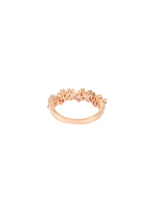 Figure View - Click To Enlarge - SUZANNE KALAN - 'Fireworks Bliss' diamond sapphire 18k rose gold half eternity ring