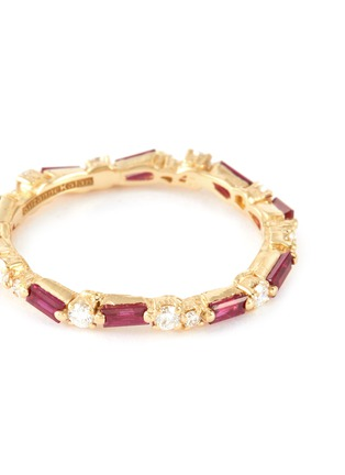 Detail View - Click To Enlarge - SUZANNE KALAN - 'Fireworks' diamond ruby 18k gold ring