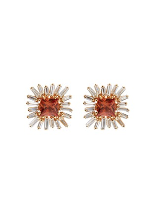 Main View - Click To Enlarge - SUZANNE KALAN - Diamond sapphire 18k gold earrings