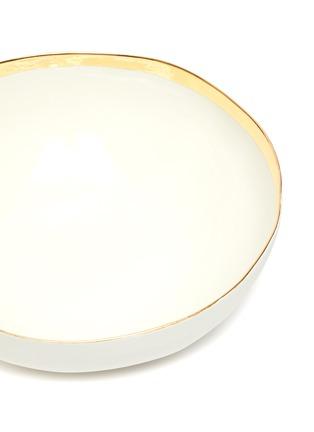 Detail View - Click To Enlarge - PETERSHAM NURSERIES - Gold-toned Border porcelain bowl