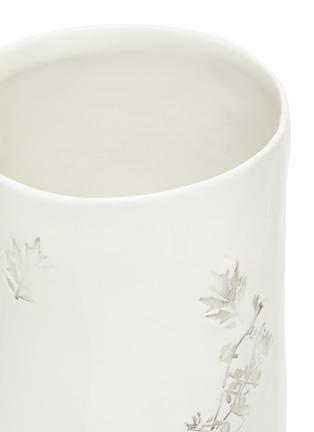 Detail View - Click To Enlarge - PETERSHAM NURSERIES - Leaf motif porcelain vase