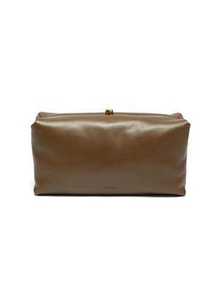 Main View - Click To Enlarge - JIL SANDER - Goji' leather clutch